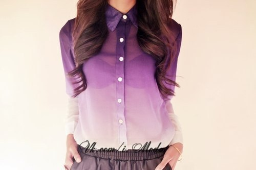 Womens Ombre Shirt  ShopStyle